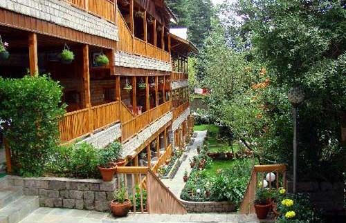 manali hotel steps
