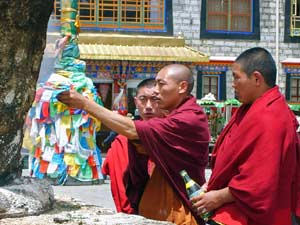 monniken Lhasa - Sikkim India