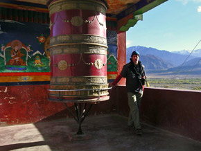 ladakh india gebedsmolen