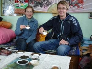 thee drinken Darjeeling India