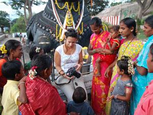 India vrouwen straat