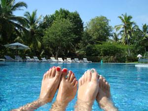 india zwembad voetjes