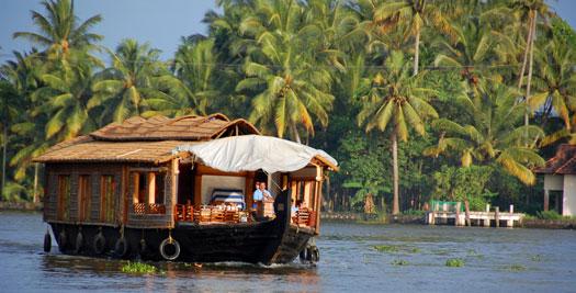 Rondreis Zuid-Inda - house boat