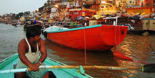 Varanasi boottour - India rondreis