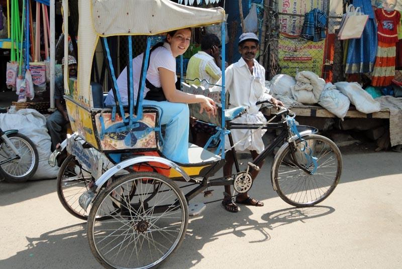 India reizen - vervoer per riksja