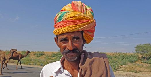 Kameeldrijver in Rajasthan