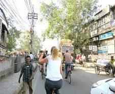 Delhi op de fiets
