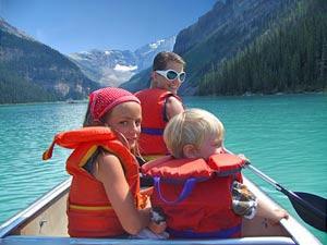 Canada met kinderen - kayakken