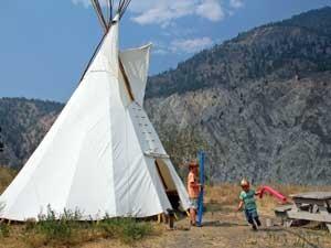 Canada vakantie met kinderen - tipi tent