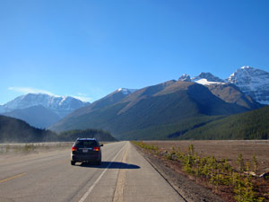 fly drive Canada - gletsjer icefield parkway