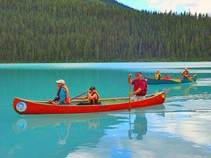 familiereis Canada - kajakken Banff