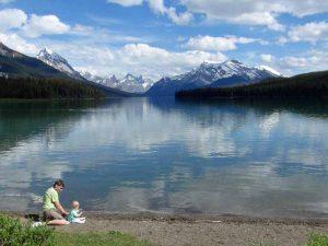 Canada maligne-lake strand