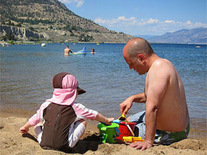 gezinsvakantie Canada - Okanagan strand