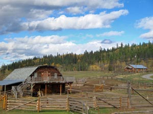 fly drive Canada met kinderen - ranch Wells Gray