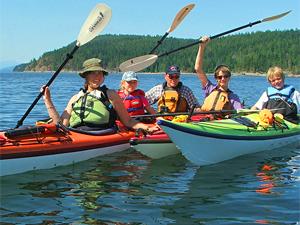 gezinsreis Canada - Sunshine Coast kayakken