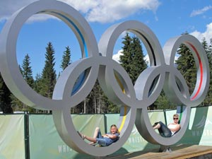 gezinsreis Canada - Whistler olympische ringen