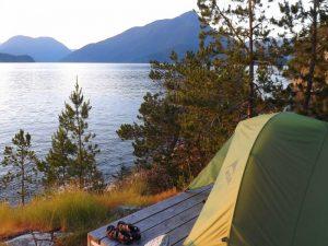 Canada kamperen fjordenkust