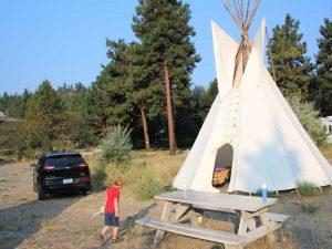 canada tipi kampeerplek