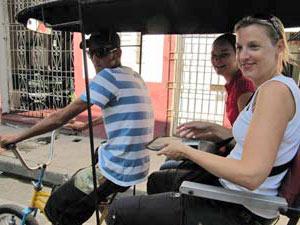 Tocht met bici-taxi door Trinidad