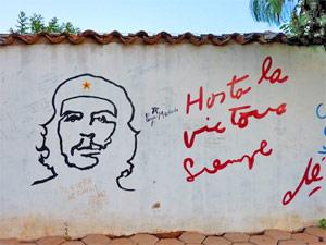 Reizen Cuba - che op muur