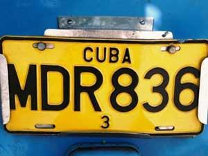 Cuba flydrive - nummerplaat