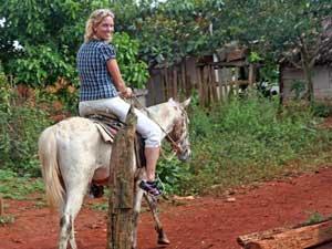 Reiziger Margot te paard