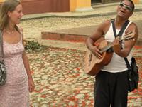 Reiziger Evelien in Trinidad