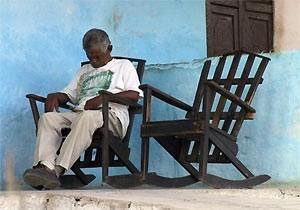 Cuba reizen - slapende man