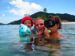 redang familie zwemmen maleisie