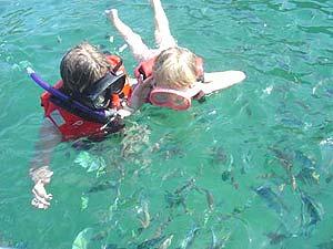 snorkelen kids maleisie