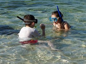 snorkelen schelpen sibu maleisie