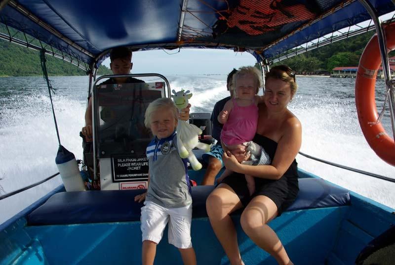 Maleisie rondreis - speedboot