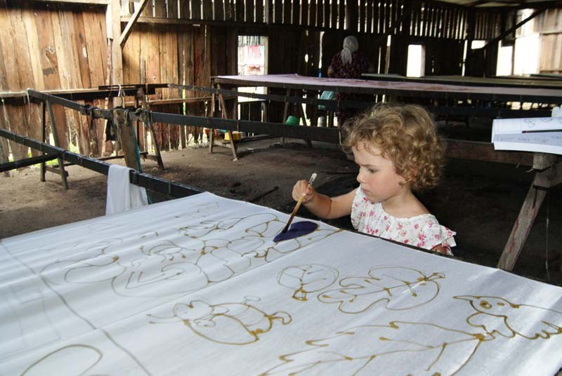 Batik schilderen - Maleisie vakantie