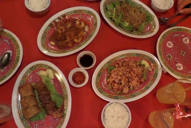 Rijsttafel - vakantie Maleisie met kids