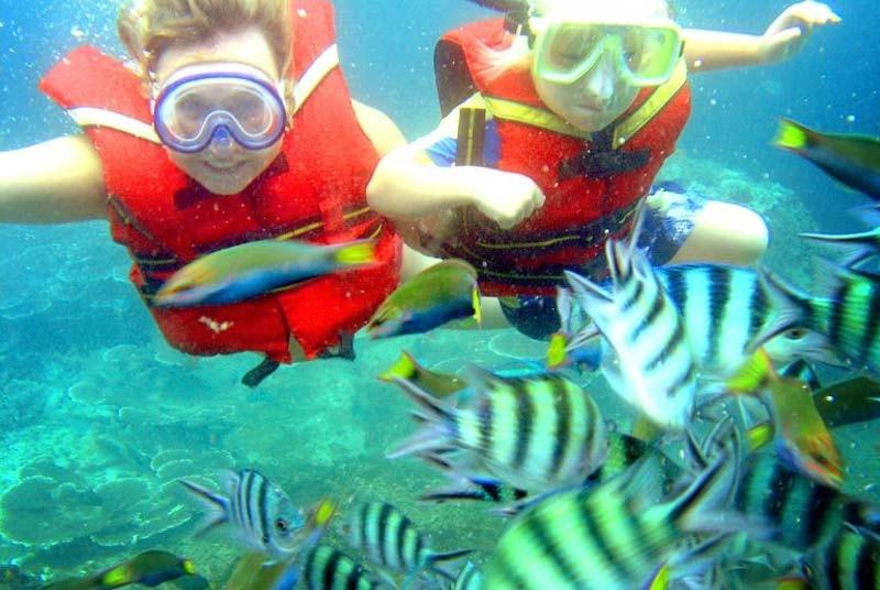 Maleisie vakantie met kinderen - snorkelen