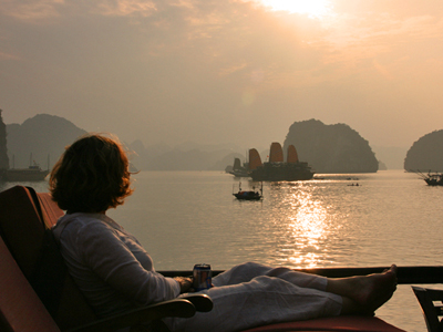Bai Tu Long Bay tour - Zonsondergang