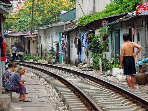 Trainstreet - fotografie Vietnam - hanoi