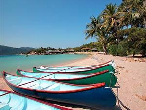 Palmeneiland Vietnam - Bootjes