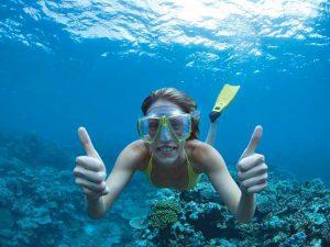 Palmeneiland snorkelen