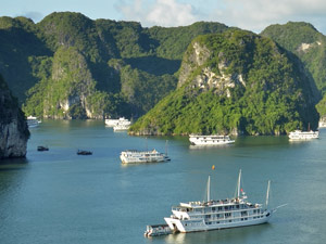 Vietnam rondreis kort - Halong Bay