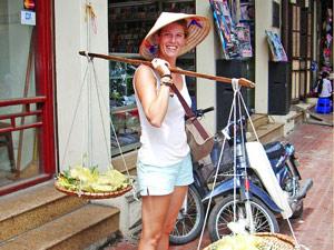 Straatverkoper Hanoi Vietnam