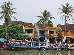 Hoi An Vietnam-reis - Boot aan water