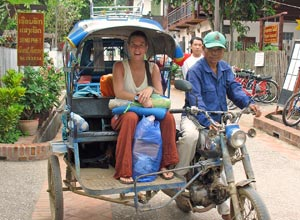 Vietnam Laos-reis - Tuktuk
