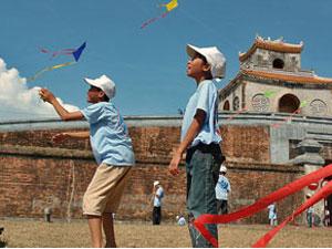 kiten vietnam kinderen