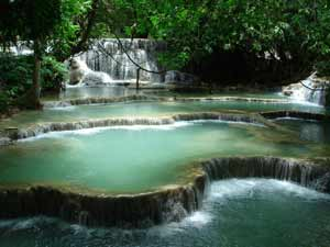 Kuang Si waterval Laos - Vietnam-reis