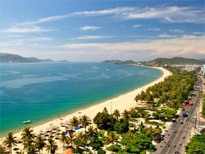 Nha Trang Vietnam - Uitzicht strand