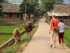 Wandeling in Mai Chau Vietnam