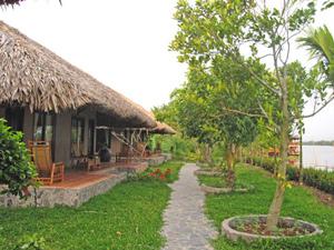 Mekong Delta bungalow - Overnachten Vietnam