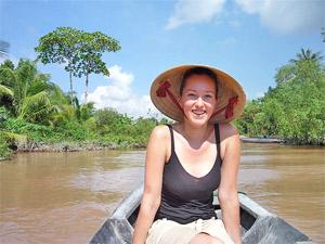 Mekong delta varen Vietnam