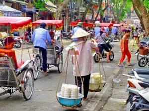 Individuele rondreis Vietnam - Hanoi straatbeeld